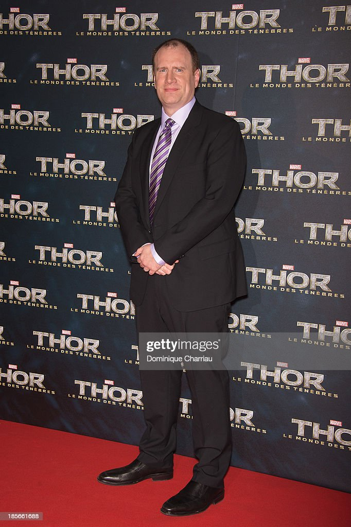 President of Marvel and producer Kevin Feige attends the 'Thor: The Dark World' Paris Premiere at Le Grand Rex on October 23, 2013 in Paris, France.