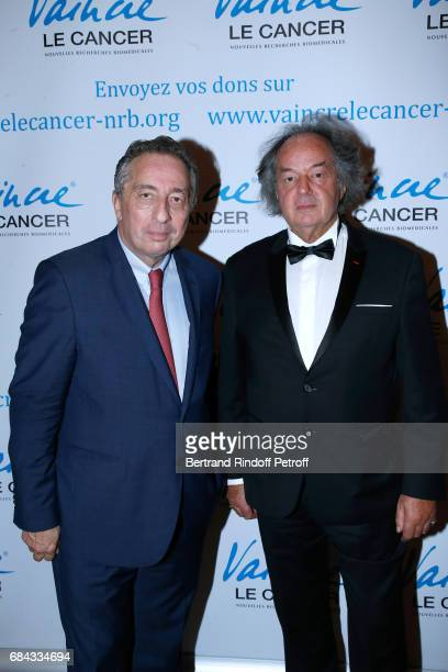 President of MBC Thomas Levet and Gonzague Saint Bris attend the 'Vaincre Le Cancer' Gala 30th Anniverary at Cercle de l'Union Interalliee on May 17...