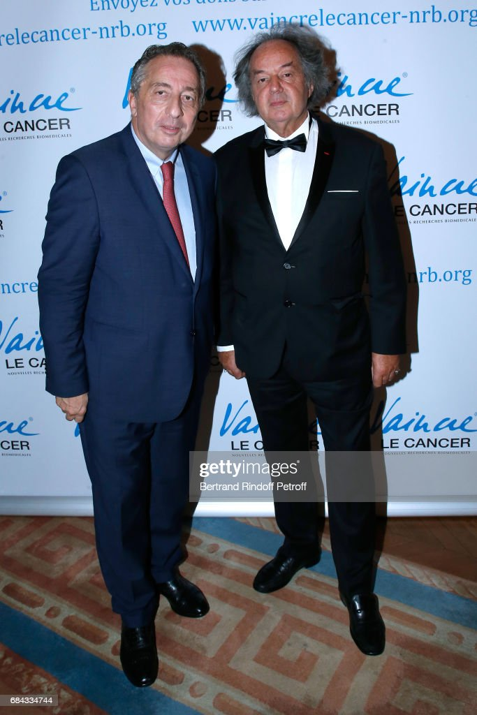 President of MBC, Thomas Levet and Gonzague Saint Bris attend the 'Vaincre Le Cancer' Gala - 30th Anniverary at Cercle de l'Union Interalliee on May 17, 2017 in Paris, France.