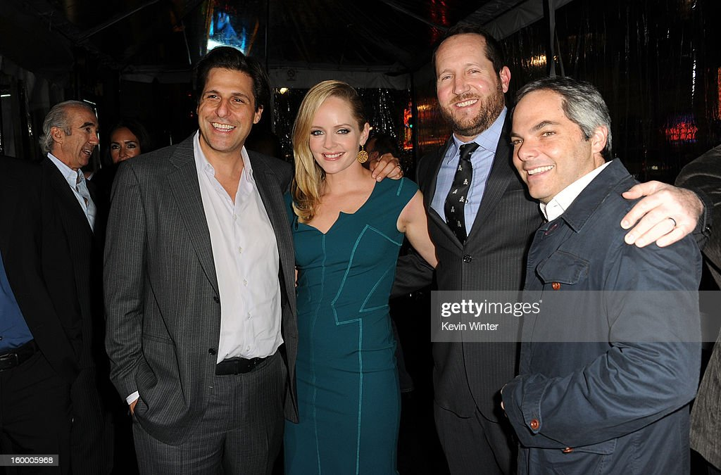 President of MGM Jonathan Glickman, actress Marley Shelton, producer Beau Flynn and President/ Paramount Film Group Adam Goodman arrive for the Los Angeles premiere of Paramount Pictures' 'Hansel And Gretel Witch Hunters' at TCL Chinese Theatre on January 24, 2013 in Hollywood, California.