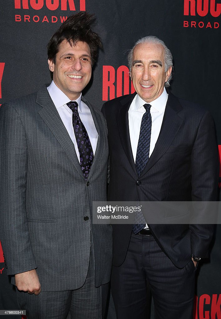 President of MGM <a gi-track='captionPersonalityLinkClicked' href=/galleries/search?phrase=Jonathan+Glickman&family=editorial&specificpeople=683143 ng-click='$event.stopPropagation()'>Jonathan Glickman</a> and MGM Chairman and CEO, <a gi-track='captionPersonalityLinkClicked' href=/galleries/search?phrase=Gary+Barber&family=editorial&specificpeople=683141 ng-click='$event.stopPropagation()'>Gary Barber</a> attend the 'Rocky' Broadway Opening Night at Winter Garden Theatre on March 13, 2014 in New York City.