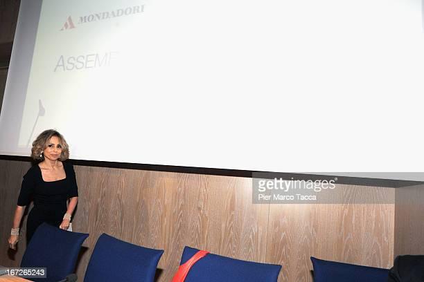 President of Mondadori SpA Marina Berlusconi attends the Mondadori annual shareholders' meeting on April 23 2013 in Milan Italy Mondadori has...