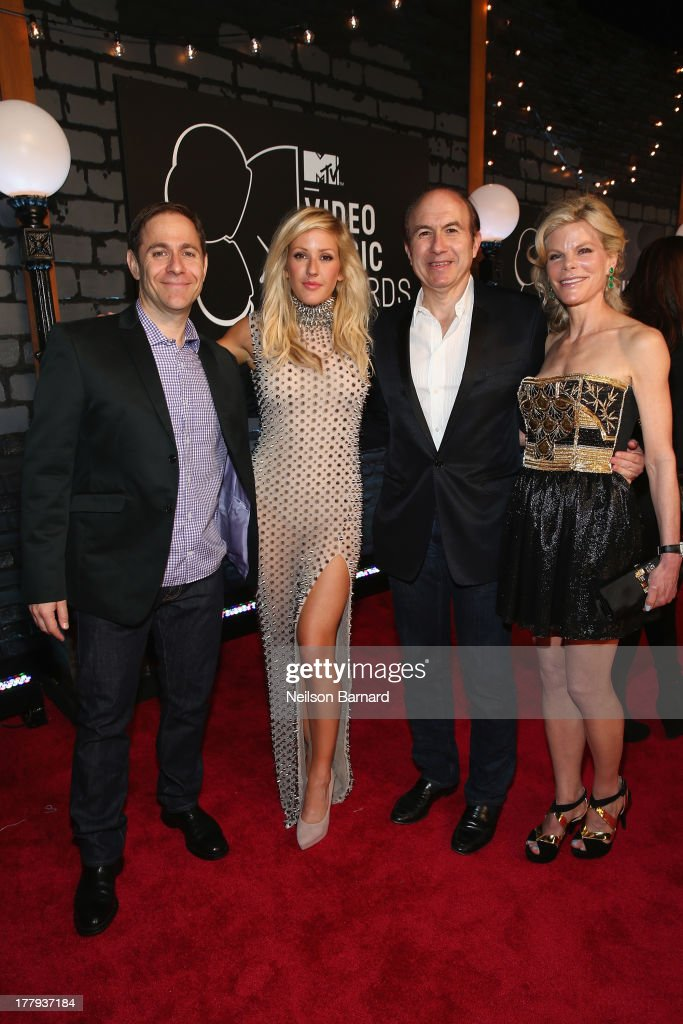President of MTV Stephen Friedman, <a gi-track='captionPersonalityLinkClicked' href=/galleries/search?phrase=Ellie+Goulding&family=editorial&specificpeople=6389309 ng-click='$event.stopPropagation()'>Ellie Goulding</a>, Viacom President and CEO <a gi-track='captionPersonalityLinkClicked' href=/galleries/search?phrase=Philippe+Dauman&family=editorial&specificpeople=1381252 ng-click='$event.stopPropagation()'>Philippe Dauman</a> and Deborah Dauman attend the 2013 MTV Video Music Awards at the Barclays Center on August 25, 2013 in the Brooklyn borough of New York City.