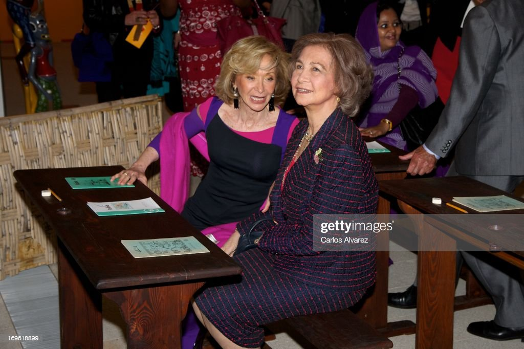 Queen Sofia of Spain Attends 'Mujeres Por Africa' Exhibition