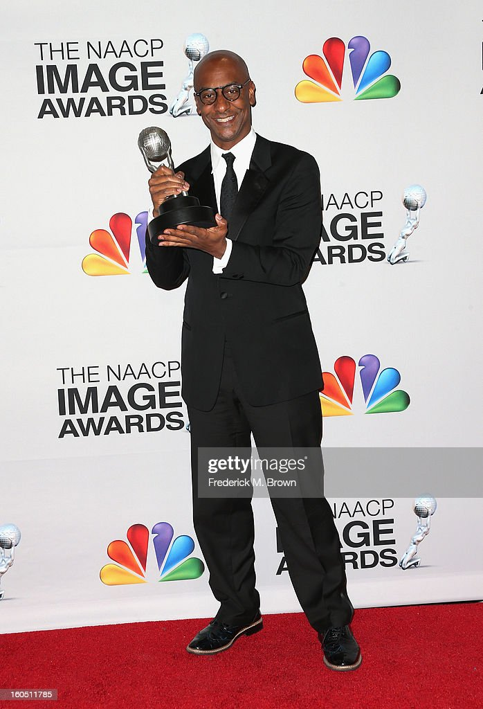 President of Music Programming and Specials at BET Networks Stephen G. Hill poses with the Outstanding Variety Series or Special award for 'Black Girls Rock' in the press room during the 44th NAACP Image Awards at The Shrine Auditorium on February 1, 2013 in Los Angeles, California.