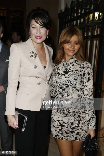 President Of Odiot Pia HofmannPiard and Zahia Dehar attend 'Dessiner L'Or et L'Argent Odiot Orfevre' Exhibition Launch at Musee Des Arts Decoratifs...