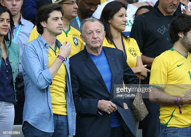 President of Olympique Lyonnais attends the 2014 FIFA World Cup Brazil Semi Final match between Brazil and Germany at Estadio Mineirao on July 8 2014...