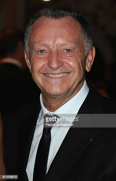 President of Olympique Lyonnais football club JeanMichel Aulas poses as he arrives to attend the 'Par Coeur Gala' dinner at the Hotel Meurice on...