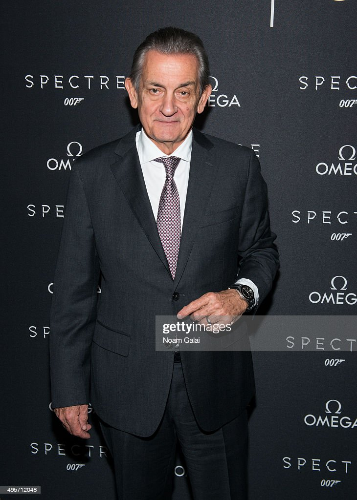 President of OMEGA Stephen Urquhart attends the New York OMEGA 'Spectre' screening on November 4 2015 in New York City