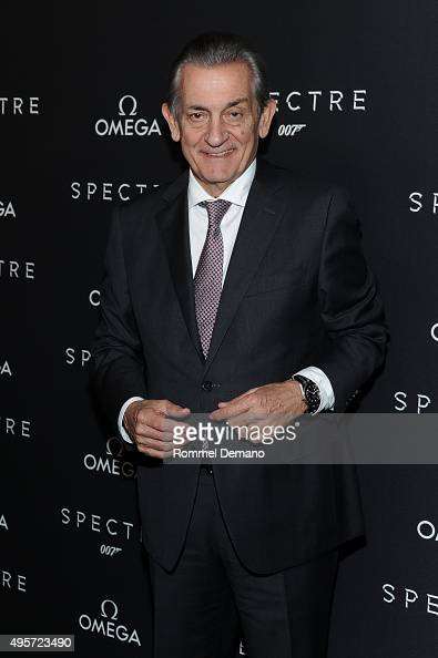 President of OMEGA Stephen Urquhart attends the Omega 'Spectre' screening on November 4 2015 in New York City