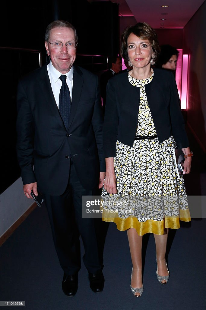 President of Opera de Paris Bernard Stirn and Minister of Health <a gi-track='captionPersonalityLinkClicked' href=/galleries/search?phrase=Marisol+Touraine&family=editorial&specificpeople=4398004 ng-click='$event.stopPropagation()'>Marisol Touraine</a> attend the AROP Charity Gala with the Opera 'Le Roi Arthus', Music and Libretto from Ernest Chausson. Held at Opera Bastille on May 19, 2015 in Paris, France.