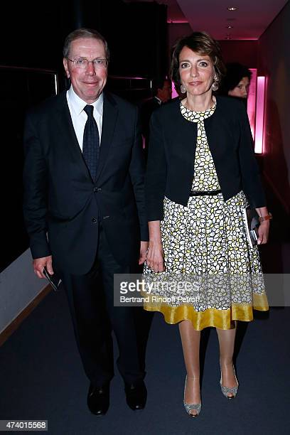 President of Opera de Paris Bernard Stirn and Minister of Health Marisol Touraine attend the AROP Charity Gala with the Opera 'Le Roi Arthus' Music...
