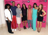President of original programming BET Networks Loretha Jones Jay Ellis chairman/CEO of BET Networks Debra Lee Kim Lewis Barry Floyd Wendy Raquel...