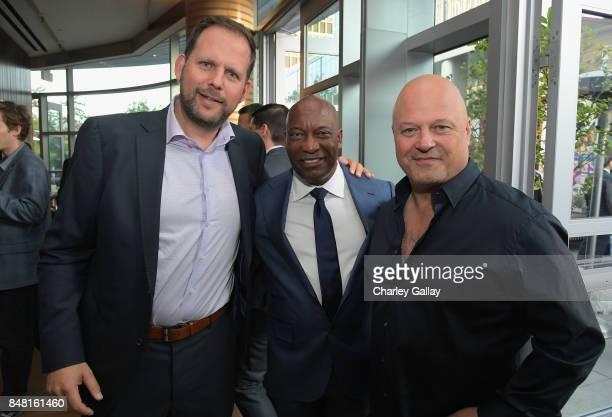 FX president of original programming Nick Grad John Singleton and Michael Chiklis attend FX Networks celebration of their Emmy nominees in...