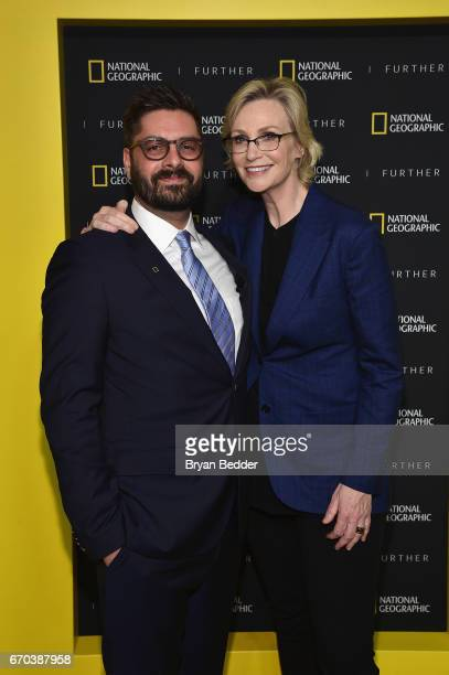 President of Original Programming Production at National Geographic Channel Tim Pastore and actress and host Jane Lynch at National Geographic's...