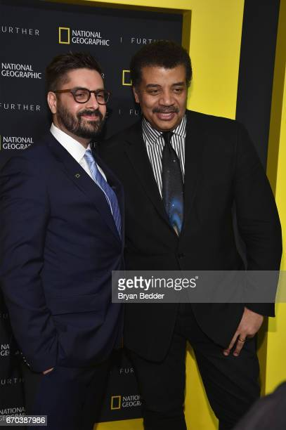 President of Original Programming Production at National Geographic Channel Tim Pastore and National Geographic Host Astrophysicist and author Neil...