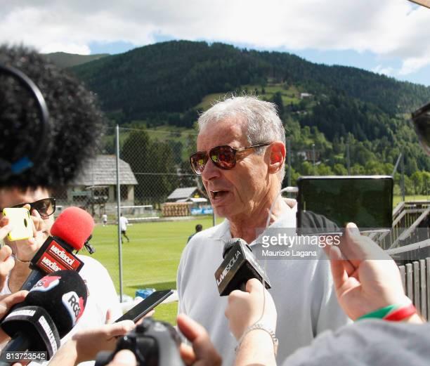 President of Palermo Maurizio Zamparini during preseason training camp on July 13 2017 in Bad Kleinkirchheim Austria