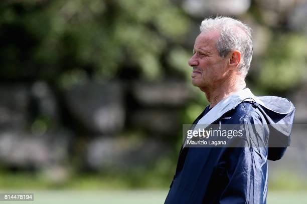 President of Palermo Maurizio Zamparini looks on during preseason training camp on July 14 2017 in Bad Kleinkirchheim Austria