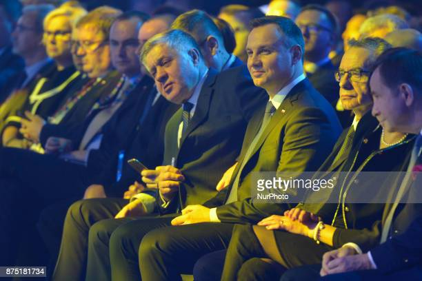 President of Poland Andrzej Duda and members of the Government watch Kamil Bednarek's concert that closed the Gala The main objectif of the Economic...