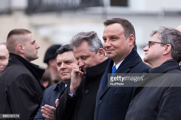 President of Poland Andrzej Duda during a visit in Otwock on 08 March 2016 in Otwock Poland