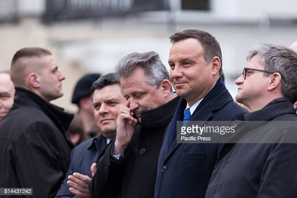 PARK OTWOCK MASOVIAN POLAND President of Poland Andrzej Duda during a visit in Otwock