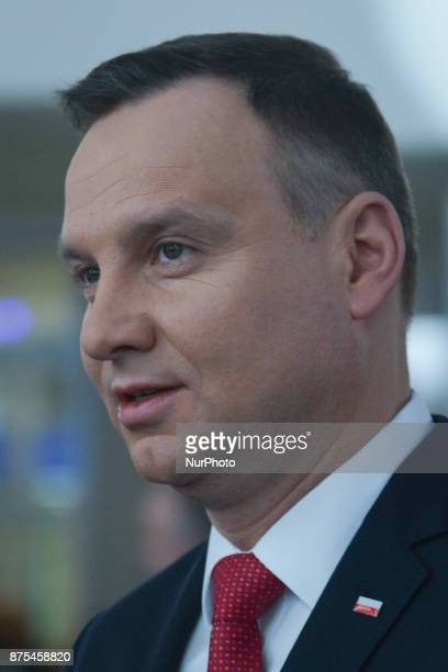 President of Poland Andrzej Duda during the Congress 590 in the new Exhibition and Congress Centre in RzeszowJasionka CONGRESS 590 is a forum of...