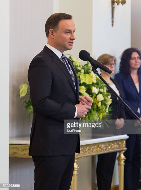 President of Poland Andrzej Duda presented 'EmployeeFriendly Employer' certificates organized by the Trade Union NSZZ 'Solidarity' at Presidential...