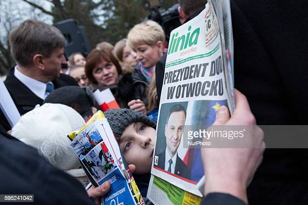 President of Poland Andrzej Duda visited Otwock city and I met with citizens on 08 March 2016 in Otwock Poland