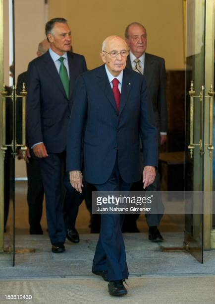 President of Portugal Anibal Cavaco Silva President of Italy Giorgio Napolitano and King Juan Carlos of Spain attend COTEC Europa Meeting 2012 at...
