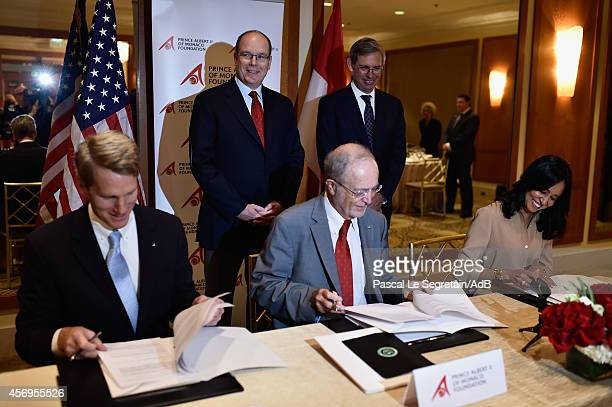 President of Prince Albert II foundation USA John BKelly Vice President and CEO of the Prince Albert II foundation Bernard Fautrier and Chairman and...