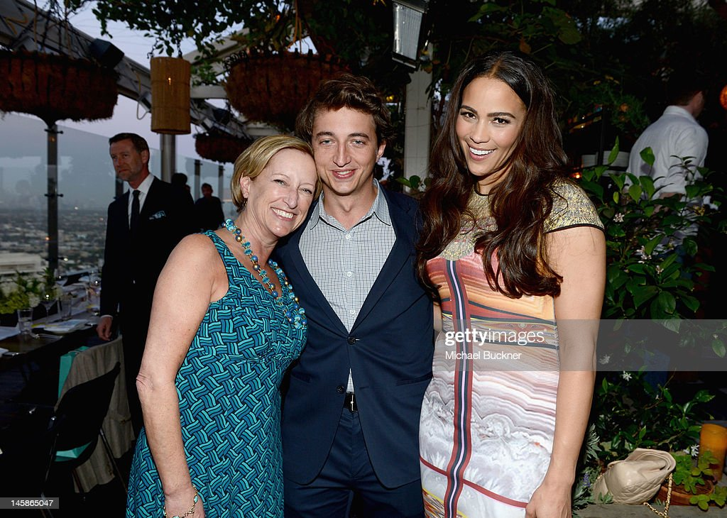 President of production, Fox Searchlight Claudia Lewis, filmmaker <a gi-track='captionPersonalityLinkClicked' href=/galleries/search?phrase=Benh+Zeitlin&family=editorial&specificpeople=6711208 ng-click='$event.stopPropagation()'>Benh Zeitlin</a>, and actress <a gi-track='captionPersonalityLinkClicked' href=/galleries/search?phrase=Paula+Patton&family=editorial&specificpeople=752812 ng-click='$event.stopPropagation()'>Paula Patton</a> attend the Sundance Institute Benefit presented by Tiffany & Co. in Los Angeles held at Soho House on June 6, 2012 in West Hollywood, California.