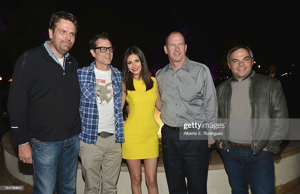 President of Production Paramount Pictures Marc Evans actors Johnny Knoxville and Victoria Justice Vice Chairman of Paramount Pictures Corporation...