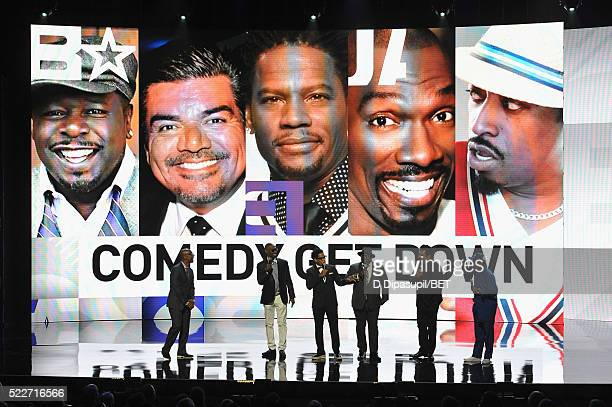 President of Programming at BET Networks Stephen G Hill and comedians Charlie Murphy DL Hughley Cedric the Entertainer George Lopez and Eddie Griffin...