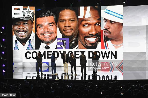 President of Programming at BET Networks Stephen G Hill and comedians Eddie Griffin Charlie Murphy DL Hughley Cedric the Entertainer and George Lopez...