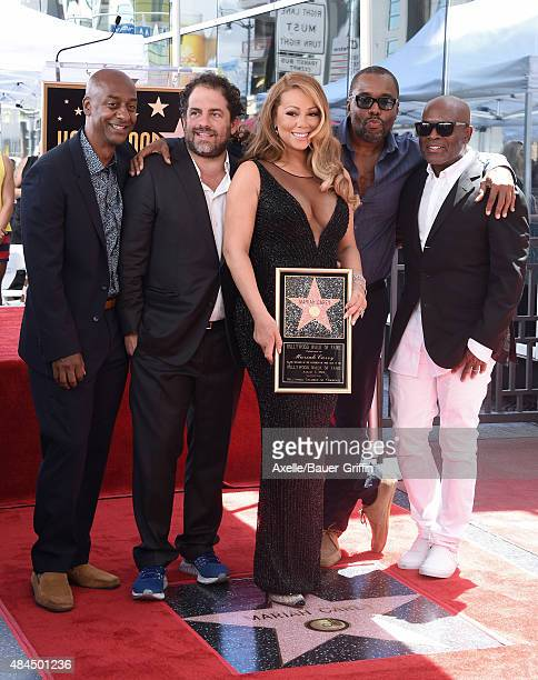 President of Programming BET Stephen Hill director Brett Ratner singer Mariah Carey director Lee Daniels and producer LA Reid attend the ceremony...
