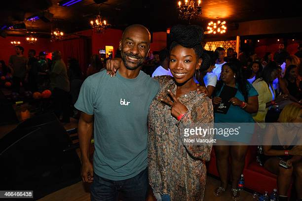 President of Programming for BET Stephen G Hill and Brandy Norwood attend the 3rd annual Girls With Gifts Charity Bowling Tournament sponsored by...