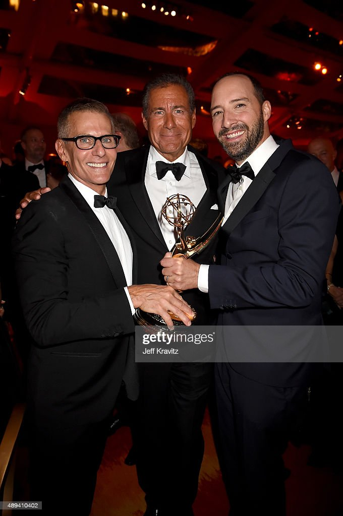 HBO President of Programming Michael Lombardo Chairman and CEO of HBO Richard Plepler and actor Tony Hale attend HBO's Official 2015 Emmy After Party...