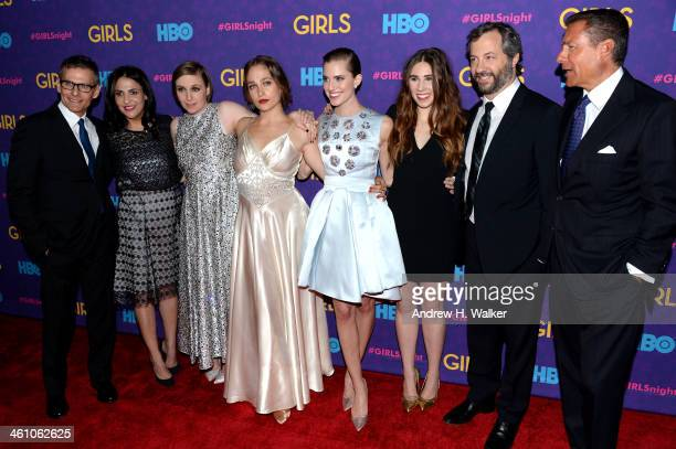 HBO President of Programming Michael Lombardo Executive Producers Jenni Konner and Lena Dunham Jemima Kirke Allison Williams Zosia Mamet Executive...