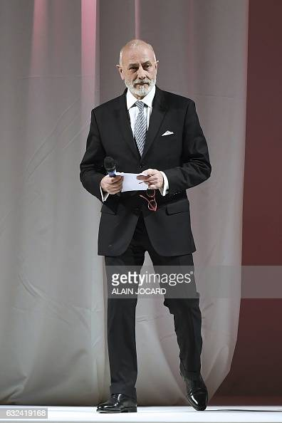 President of PromincorLingerie Francaise Philippe Berthaux speaks during the French Lingerie Show 'Lingerie Mon Amour' by Lingerie Francaise in Paris...