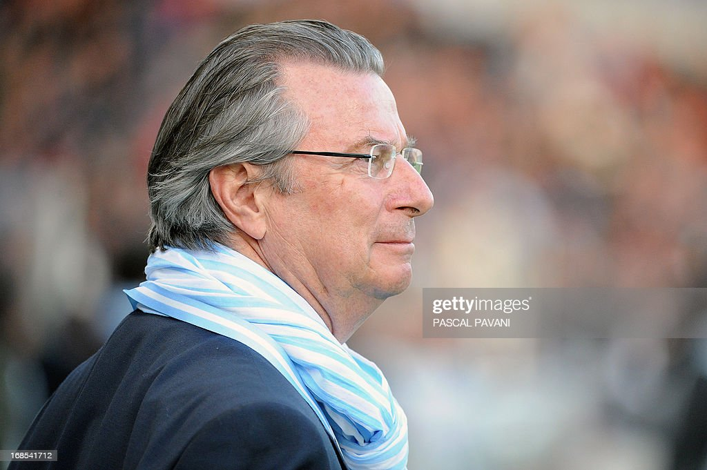 President of Racing Metro Jacky Lorenzetti looks on during the French Top 14 rugby union match Toulouse vs Racing Metro on May 10, 2013 at the Municipal Stadium in Toulouse, southern France. AFP PHOTO / PASCAL PAVANI