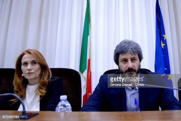President of RAI Monica Maggioni and President of the Parliamentary Committee of Audiovisual Services Supervision Roberto Fico a parliamentary...