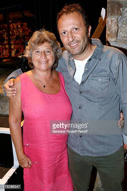 President of Ramatuelle Festival Jacqueline Franjou and Arthur Essebag attend 'Student and Mr Henri' play at 29th Ramatuelle Festival Day 2 on August...