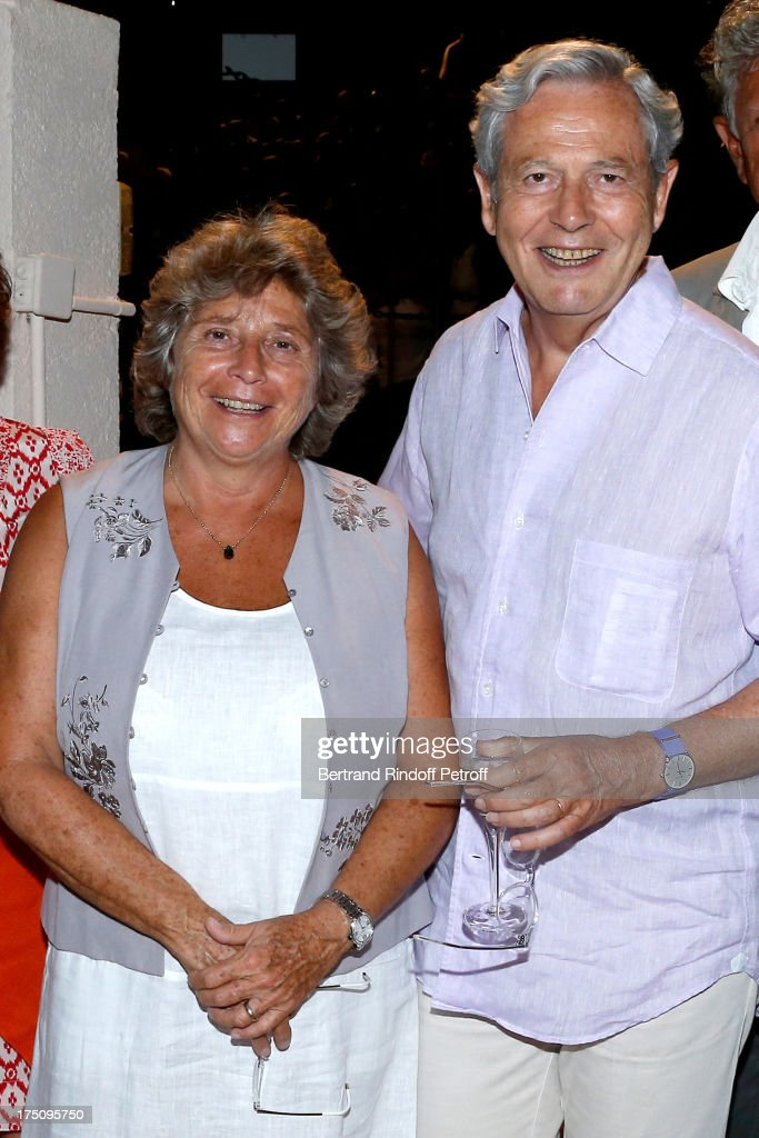 President of Ramatuelle Festival Jacqueline Franjou and Honorary President of Galeries Lafayettes Philippe Houze attends 'Stars under Stars' at 29th Ramatuelle Festival on July 31, 2013 in Ramatuelle, France.