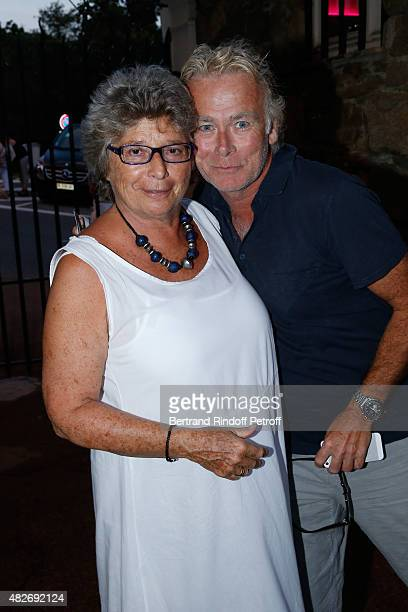 President of Ramatuelle Festival Jacqueline Franjou and Humorist Franck Dubosc attend the 'Madame Foresti' show of Humorist Florence Foresti during...