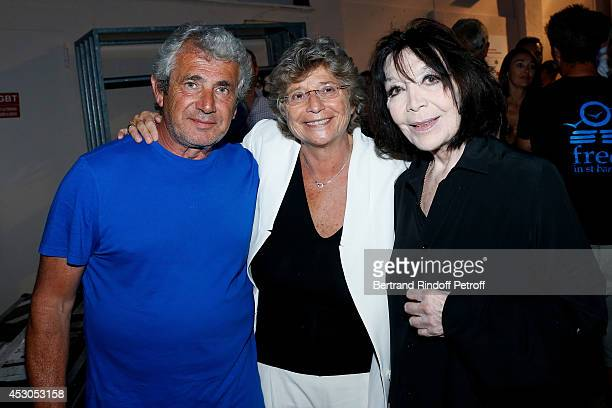 President of Ramatuelle Festival Jacqueline Franjou Artistic Director of the Festival Michel Boujenah and singer Juliette Greco attends the 30th...