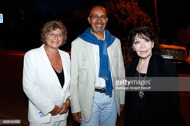 President of Ramatuelle Festival Jacqueline Franjou Secretary of State for European Affairs Harlem Desir and singer Juliette Greco attend the Michel...
