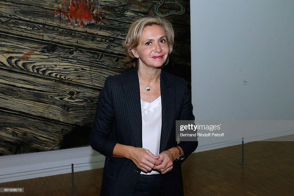 President of 'Region Ile-de-France' Valerie Pecresse attends the Anselm Kiefer's Exhibition : Press Preview, held at Centre Pompidou on December 14, 2015 in Paris, France.