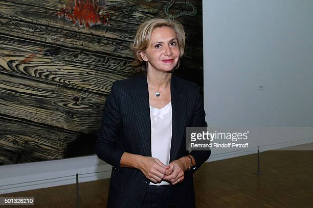 President of 'Region IledeFrance' Valerie Pecresse attends the Anselm Kiefer's Exhibition Press Preview held at Centre Pompidou on December 14 2015...