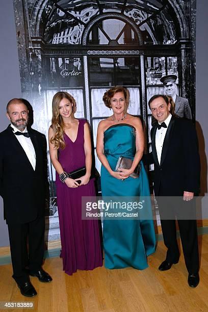 President of Reunion des Musees Nationaux JeanPaul Cluzel Archduchess Eleonore Von Habsburg her daughter Princess Francesca Von Habsburg and...