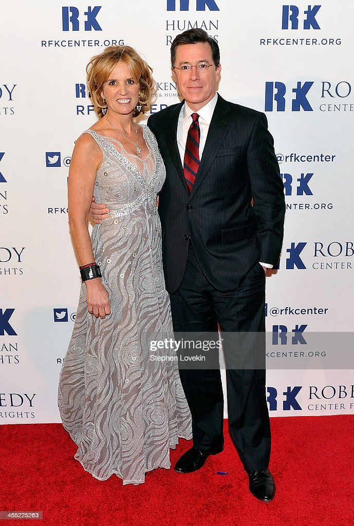 President of RFK Center <a gi-track='captionPersonalityLinkClicked' href=/galleries/search?phrase=Kerry+Kennedy&family=editorial&specificpeople=632610 ng-click='$event.stopPropagation()'>Kerry Kennedy</a> (L) and satirist <a gi-track='captionPersonalityLinkClicked' href=/galleries/search?phrase=Stephen+Colbert&family=editorial&specificpeople=215133 ng-click='$event.stopPropagation()'>Stephen Colbert</a> attend Robert F. Kennedy Center For Justice And Human Rights 2013 Ripple Of Hope Awards Dinner at New York Hilton Midtown on December 11, 2013 in New York City.